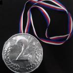 Medal srebrny czekoladowy
