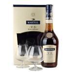 Martell VS 0.7L 40% + szklanki